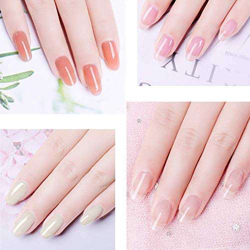 JOSLOVE Poly Nail Gel Kit Enhancement Builder Gel Acrylic Nail Gel Extension Poly Gel Kit with Slip Solution for Professional Nail Salon or Starters 8 Colors 15ml