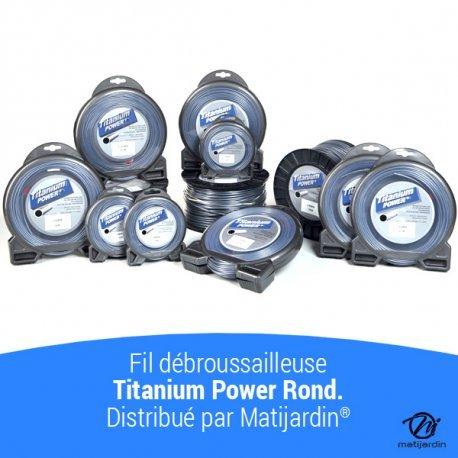 Rond Fil d/ébroussailleuse Titanium 3 mm x 169 m Bi-mati/ère Bobine