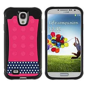 WAWU Funda Carcasa Bumper con Absorci??e Impactos y Anti-Ara??s Espalda Slim Rugged Armor -- polka dot pink black white pattern -- Samsung Galaxy S4 I9500