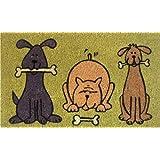 """Home & More 120321729 Doggie Fun Doormat, 17"""" x 29"""" x 0.60"""", Multicolor"""