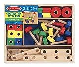 toy building sets - Melissa & Doug Wooden Construction Building Set in a Box (48 pcs)