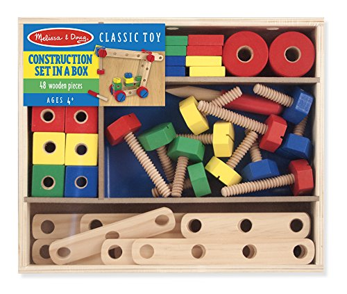 Melissa & Doug Wooden Construction Building Set in