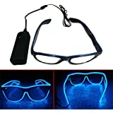 El Wire LED Light Up Shutter Shaped Glasses for Rave Costume Party Leuchtbrille