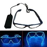 El Wire LED Light Up Shutter Shaped Glasses for Rave...