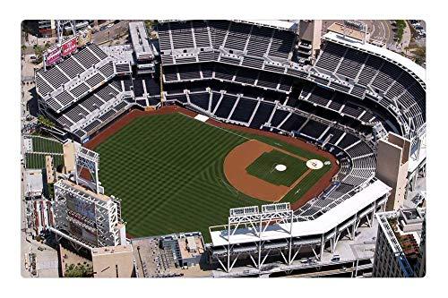 (Tree26 Indoor Floor Rug/Mat (23.6 x 15.7 Inch) - Petco Ball Park San Diego California Aerial View)
