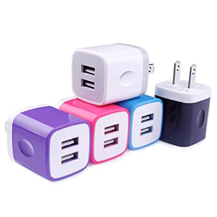 Amazon.com: TePoo - Cargador USB de pared para iPhone X 8 7 ...