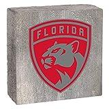 "Rustic Marlin Designs NHL Florida Panthers, Gray Background, Team Logo Block, 6"" x 6"" x 2"""