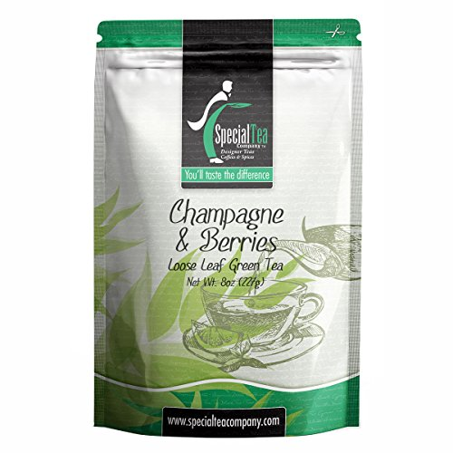 Special Tea Loose leaf Green Tea, Champagne & Berries Organic, 8 - Champagne Tea