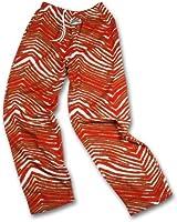 Zubaz San Francisco Team Color Zebra Pants, Red Metallic Gold