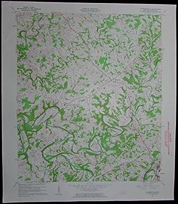 Summersville Kentucky Green River Greensburg vintage 1963 old USGS Topo chart