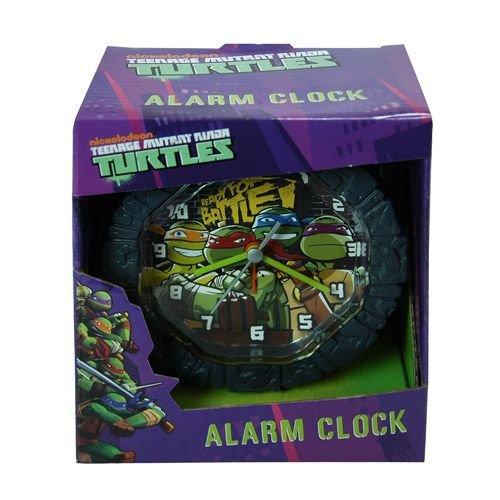 TMNT Teenage Mutant Ninja Turtles Battery Operated Snooze Alarm Clock with Custom Molded Case Room Decoration 5.75