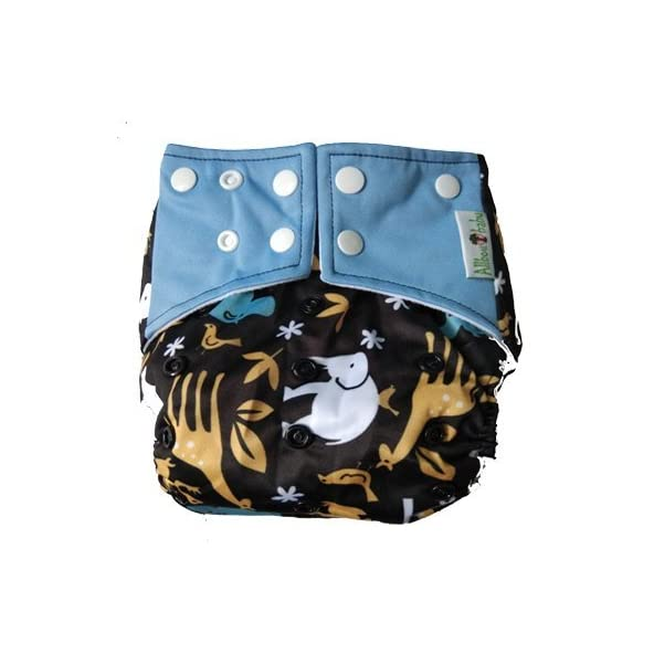 Allboutbaby Reusable pocket Cloth Diaper with stay dry insert- Forest Knight