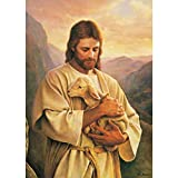 Jigsaw Puzzles for Adults Kids, Jesus Holding The Sheep Puzzle Game Interesting Toys Family Educational Puzzle Toy Picture Puzzle Brain Game Puzzle Gift, 300-3000 Pieces (Size : 1500pieces)