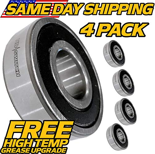 (4 Pack) High Speed Deck Spindle Bearing Murray AYP 12325MA 1501389MA 49562MA 782973MA, Simplicity 1705897SM - HD Switch ()