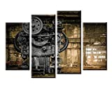 Best Office Art - 4 Panel Wall Art Metallurgical Firm Waiting For Review