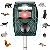ZYYRSS Animal Repellent Ultrasonic Outdoor Solar Powered Waterproof with Ultrasonic Sound,Motion Sensor