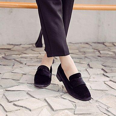 chaussures Synthétique talon Femme Brown Gros laine Talon Bas Dark ggx Légères décontracté semelles Lvyuan À Talons 4zwOASqS