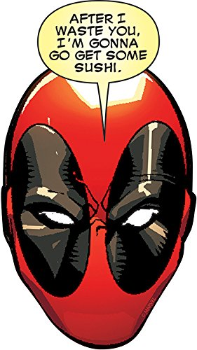 Aquarius Marvel Deadpool Head Funky Chunky Magnet