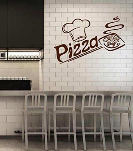 Vinyl Wall Decal Pizza Italian Restaurant Pizzeria Italy Food Kitchen Interior Stickers Mural Large Decor (ig5681) -