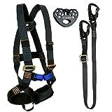Fusion Climb Tactical Edition Kids Commercial Zip Line Kit Harness/Lanyard/Trolley Bundle FTK-K-HLT-02