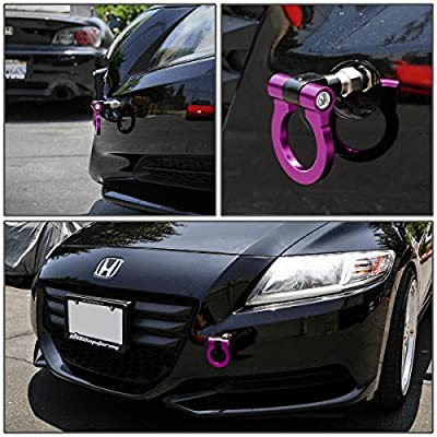 DNA MOTORING DNA THK-JDM-PP Purple Aluminum Front/Rear Japanese Car Trailer Tow Hook Ring Kit-M18 x 2.5: Automotive