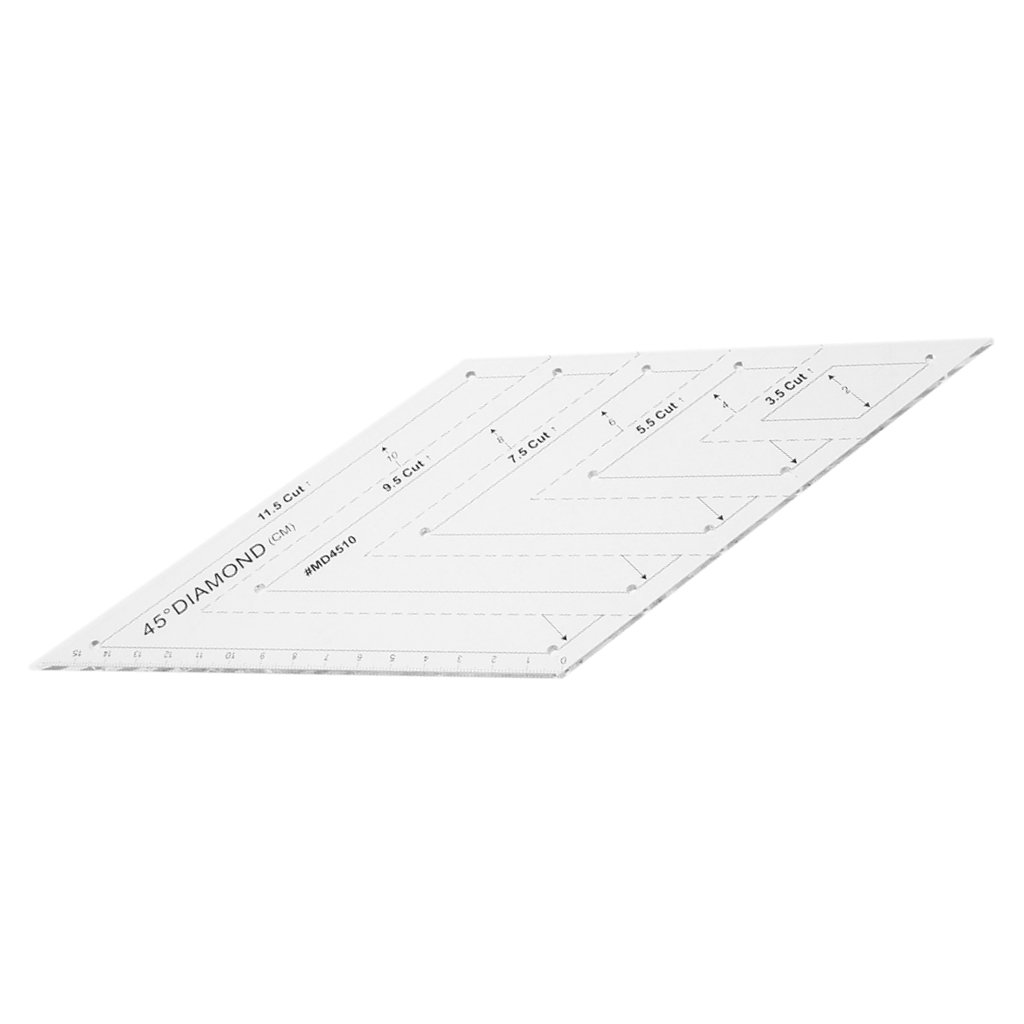 Fityle 45°Diamond Rhombus Shape Quilting Ruler Rotary Cutting Template for Craft