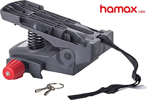(Hamax Carrier/Rack Adapter Rear Child Bike Seat, Dual Spring Suspension for Seamless, Smooth Ride)