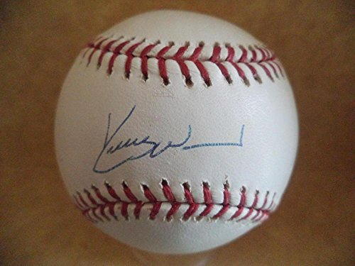 Kerry Wood Autographed Ball - yankees indians M l Hologram - Autographed Baseballs
