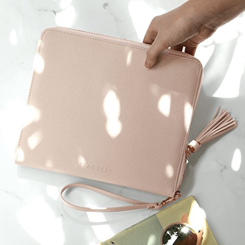 Clutch Fittings Rose Blush Gold Stackers Pink with Bag RvWqSw