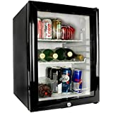 bar@drinkstuff Frostbite Glass Door Mini Bar 35ltr - Counter Top Fridge with Lock, Suitable for Milk Overnight