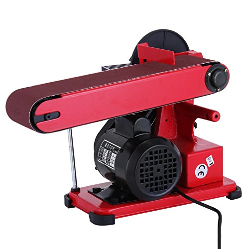 BestEquip Bench Sander for Wood 6 Inch Disc 4x36 Inch Belt Sander Electric Combo Adjustable Grinder Sander (Combination Bench Grinder)
