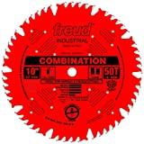 Freud LU84R011 10-Inch 50 Tooth ATB Combination Saw Blade with 5/8-Inch Arbor and PermaShield Coating
