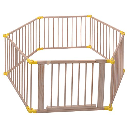 Wood Solid Pine Wood Baby Playpen With Ebook by MRT SUPPLY (Image #8)