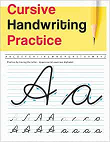 cursive handwriting practice uppercase lowercase alphabet cursive handwriting workbook for. Black Bedroom Furniture Sets. Home Design Ideas