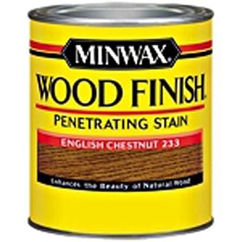 Minwax 223304444  Wood Finish Penetrating Interior Wood Stain, 1/2 pint, English Penetrating Chestnut