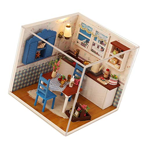 (SM SunniMix 1/24 Scale Dollhouse Miniature DIY Prince House Kit Creative Room with Furniture for Great Artwork Gift)
