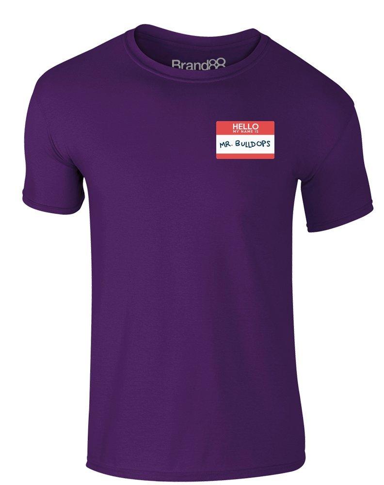 Brand88 - I'm Mr. Bulldops, Erwachsene Gedrucktes T-Shirt: Amazon.de:  Bekleidung
