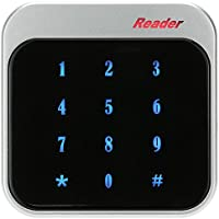 KKmoon Weatherproof 13.56MHz Wiegand 26 / 34 Access Control Keypad RFID Reader Color Black