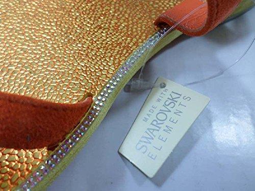 EDDY DANIELE 37 EU Sandalias Naranja Gamuza / Cristales Swarovski AX910
