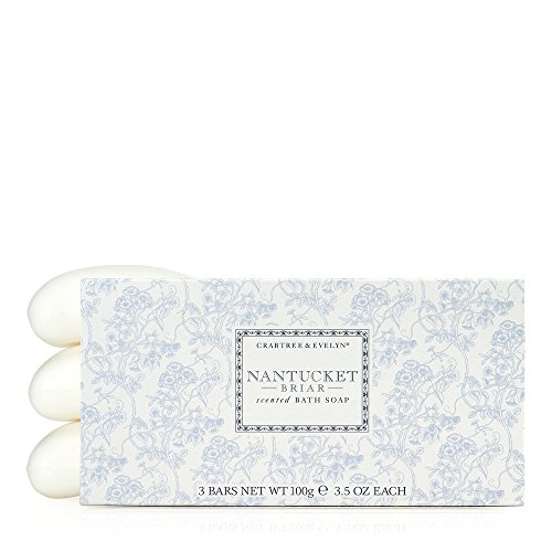 Crabtree & Evelyn Triple Milled Soap Set, Nantucket Briar, Net Weight 100 g, 3.5 oz Each from Crabtree & Evelyn