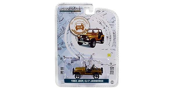 Anniversary Collection Series 7 1//64 Diecast Car by Greenlight 27970 D Commemorative Ed 1982 Jeep CJ-7 Jamboree Gold 30th Anniversary Jamboree