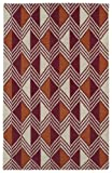 Kaleen Rugs Nomad Collection Flat-Weave Red Rug (2' x 3')