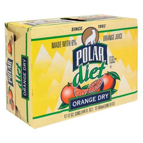 Dry Beverage (Polar Seltzer, 12 Fl Oz (Pack of 12) (Diet Orange Dry))