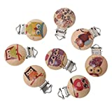 Best Funnytoday365 Pacifiers - Funnytoday365 5Pcs Lot Cute Cartoon Owl Wooden Ba Review
