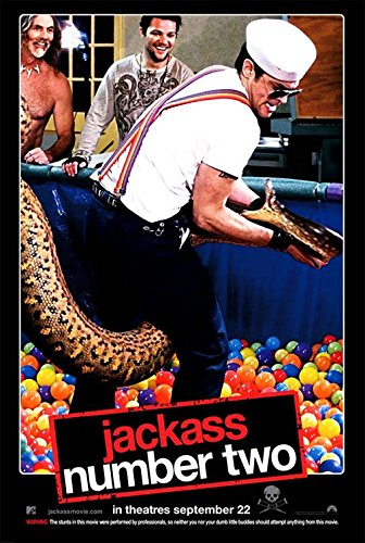 JACKASS: NUMBER TWO (2006) Original Authentic Movie Poster 27x40 - Double - Sided - Johnny Knoxville - Bam Margera - Steve-O - Chris Pontius (Knoxville Jackass)
