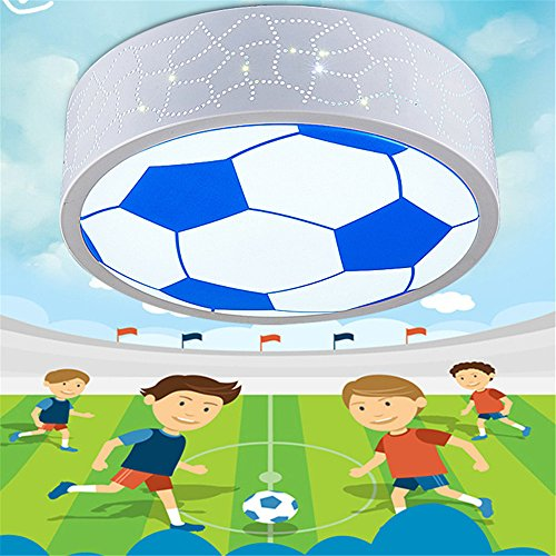 CHLIGHT 40Cm/24W Children Room Ceiling Lights Creative Acrylic Football Shaped Ceiling Lamps Bedroom Living Room Boy Room Girl Room Kindergarden Indoor Cartoon Dimmable Pendant Lights LED Lamp,A