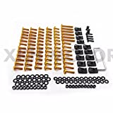 XKH GROUP Motorcycle Complete Fairing Bolts Screws Fasteners Kit For Suzuki Gsxr 600 750 1000 Gold new