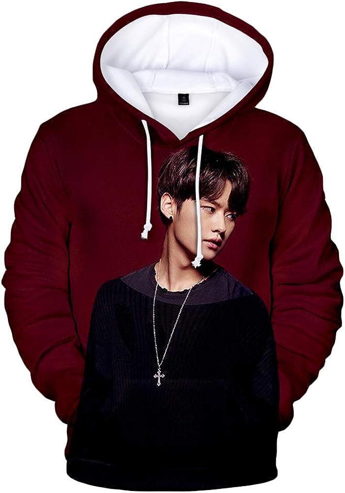 Stray Kids Pullover Stylish Hooded Sweatshirt 3D Printing Long Sleeve Tops Popular Pullover Unisex