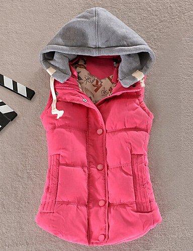 Down Match More Colors Fashion Vest Fuchsia All Women'S 2XL ZHUDJ Hooded 7XwqtgBWx