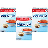 Premium Saltine Crackers, Family Size - 3 Boxes